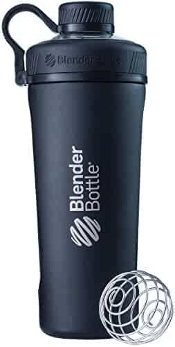 BlenderBottle Radian Insulated Stainless Steel Shaker Bottle, Matte Black, 26-Ounce - C02090