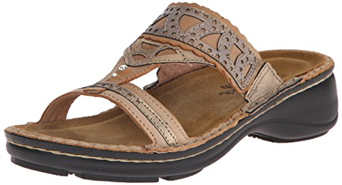 Brass Oleander Biscuit Leather Flat Women's Naot Leather 15O0XWRwfn