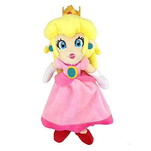 Sanei Super Mario Bros Collection Peach Princess Stuffed Plush 8'' -