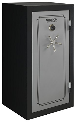 Stack-On TD-40-SB-C-S Total Defense 36-40 Gun Safe with Combination Lock, Matte Black/Silver