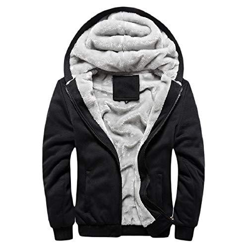 Zips Men Oversized Fleece Jacket Hoodie Black Howme Slim Coat Warm S5qcfq4xd