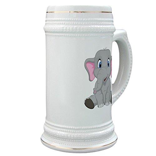 (Stein (Glass Drink Mug Cup) Cute Elephant Sitting)