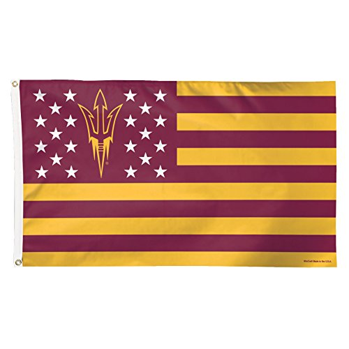 NCAA Arizona State Sun Devils Stars and Stripes Deluxe Flag, 3 x 5', Multicolor