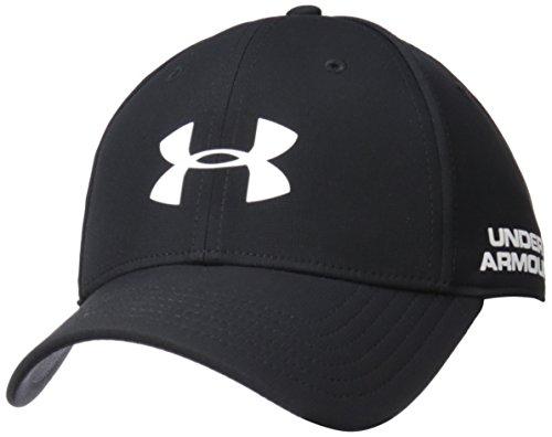Under Armour Men's Golf Headline 2.0 Cap, Black (001)/White, Medium/Large