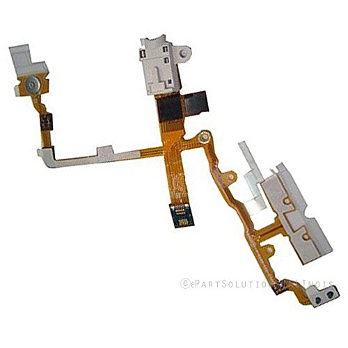 ePartSolution_Headphone Audio Jack Power Button Volume Button Flex Cable for iPhone 3G | iPhone 3GS Replacement Part USA Seller (White)