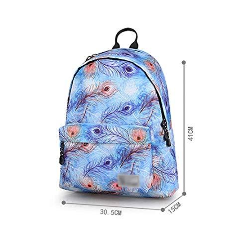 Donna Coreano Da Peacockfeather Viaggio Di Da Borsa Borsa Per Computer Selvaggio Capacità Di Scuola Zaino Grande AJLBT Sacchetto Trend q8R4xfwE