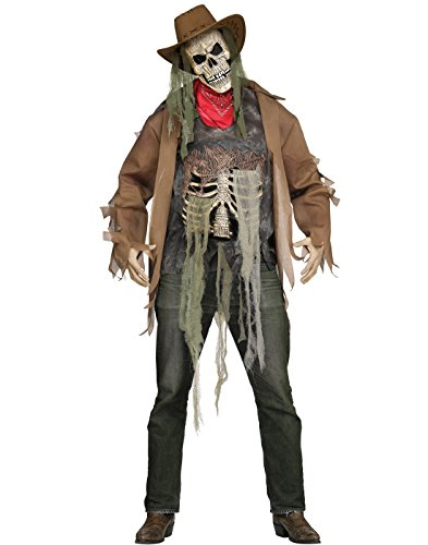 Fun World Men's Dead or Alive Costume, Brown, Standard -