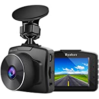 Byakov Upgraded Dash Cam 2 Inch LCD Screen 1080P Full HD Dash Camera for Cars with G-Sensor, WDR, Loop Recording, 170Wide Angle, Night Vision, Motion Detection