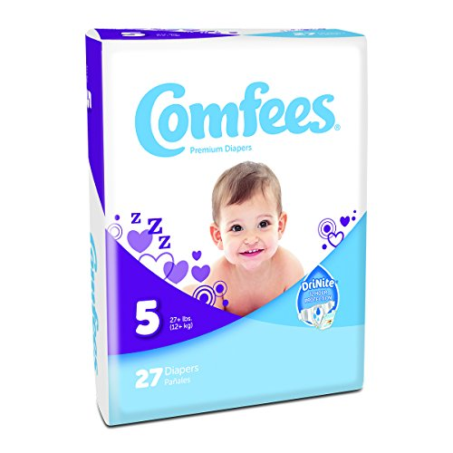 Attends Comfees Premium Baby Diapers Size 5, Case of 108