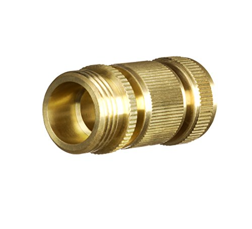 New Garden Hose Quick Connector Inch Ght Brass Easy Connect Fitting 2 Piece Set Male And Female