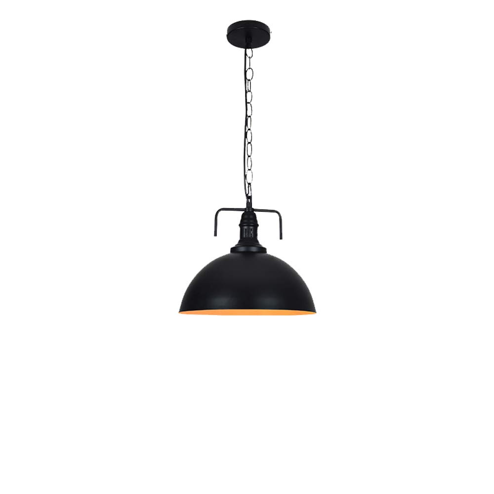 Home Chandelier, American Retro Style Pendant Lamp Personality Restaurant Lid Creative Bar Ceiling Lamp Single Head LOFT Pendant Light Cafe Restaurant Living Room Beautiful Lighting (Color : F)