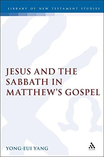 (Jesus and the Sabbath in Matthew's Gospel (Jsnt Supplement Series, 139))