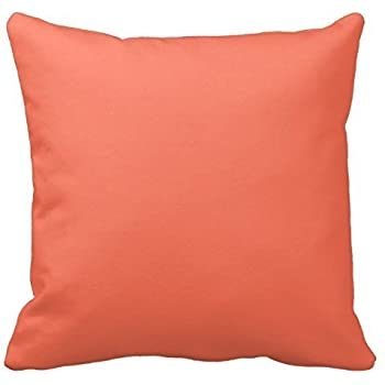 Solid Coral Throw Pillows : Amazon.com: Solid Color: Coral Throw Pillow Cover Cottons 18 x 18 for Sofa or Bedroom etc.: Home ...