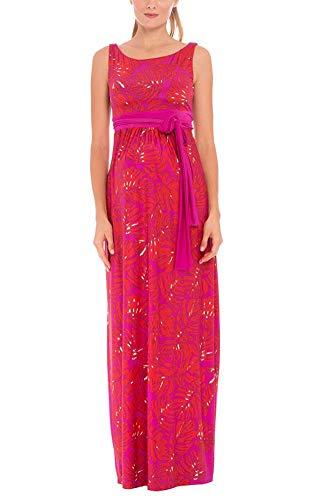The Sleeveless Boat Neck Maxi Print Dress - Olian Maternity Wear