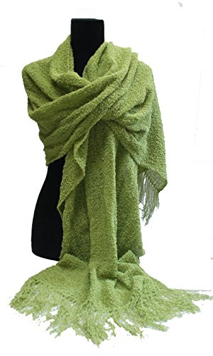 Chatreuse Wool Wrap by Lindy Chinnery Handwoven Designs