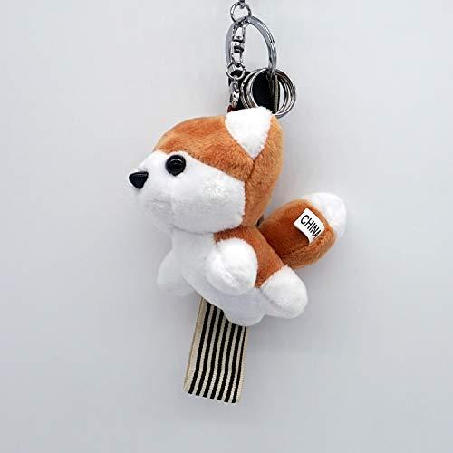 guangya Boutique Plush Husky Pillow Cute Car Keychain Light Brown (Best Husky Key Chain Flashlights)