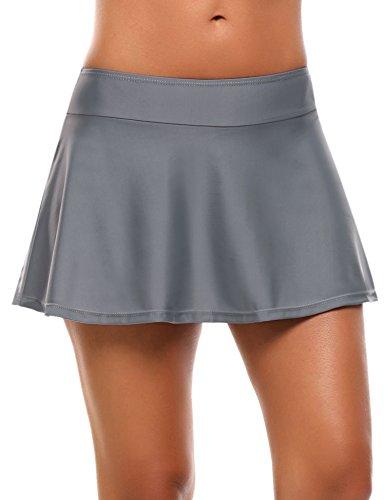 (Avidlove Women's Swim Skirt Bikini Tankini Bottom (Gray))