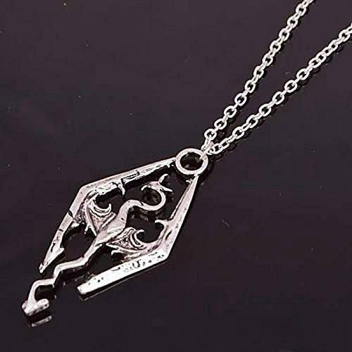 Tfsm Skyrim Dragon Necklace The Elder Scrolls Series Inspired Skyrim