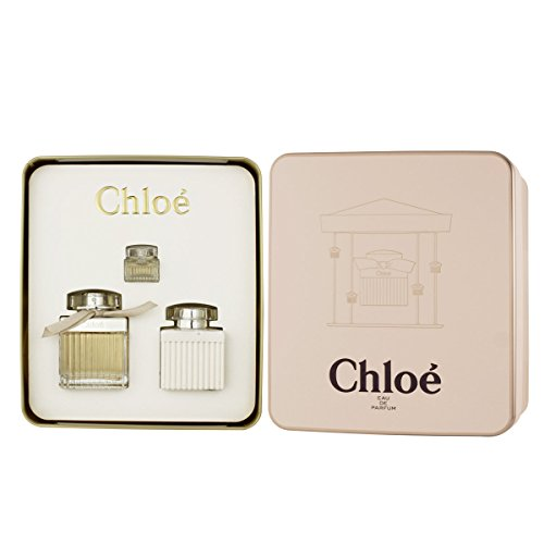 (Chloe 3 Piece Set (2.5oz EDP Spray, 3.4oz Body Lotion, .17oz EDP Mini Splash) )
