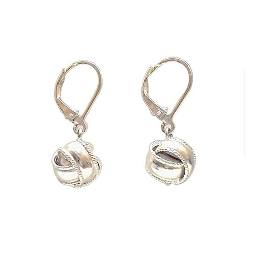 Tisoro Sterling Silver Ball Earrings with Lever backs - 100% Hypoallergenic and Allergy Free by Tisoro