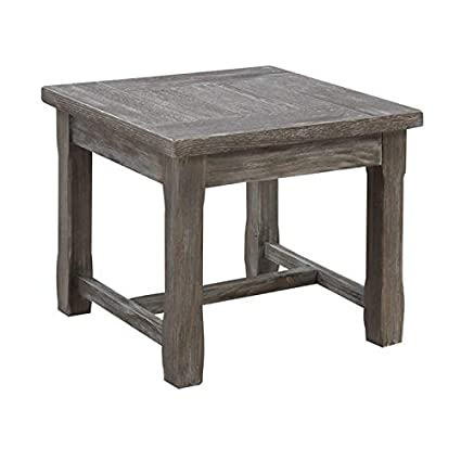 Amazing Amazon Com Pemberly Row Magnolia Rustic Charcoal Gray End Gmtry Best Dining Table And Chair Ideas Images Gmtryco