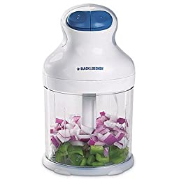 Black & Decker EHC650 2-Speed Food Chopper with 3-Cup Bowl, White