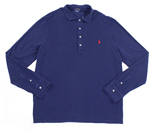 Polo Ralph Lauren Mens Featherweight Mesh Polo Navy - Featherweight Barrel