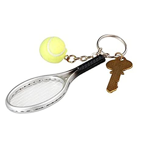 nicebuty 1 Piece Mini Raqueta de tenis llavero creativo ...