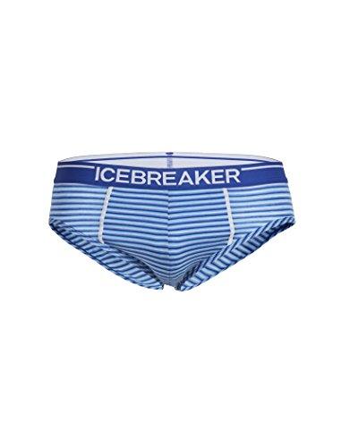 Icebreaker Men's Anatomica Briefs, Cobalt/Capri/Stripe, Medium