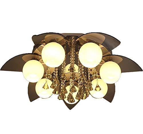 Natsen® Kristall Deckenleuchte 7-flammig Designer Fernbedienung Wohnzimmer Lampe LED E27 Ø96cm