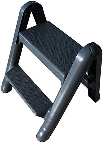GBX Taburete Plegable Fácil Y Multifuncional, Taburete de Escalera Taburete Multifunción Taburete de Plástico Desmontable Escalera con Ruedas Escalera Móvil de Dos Peldaños: Amazon.es: Bricolaje y herramientas