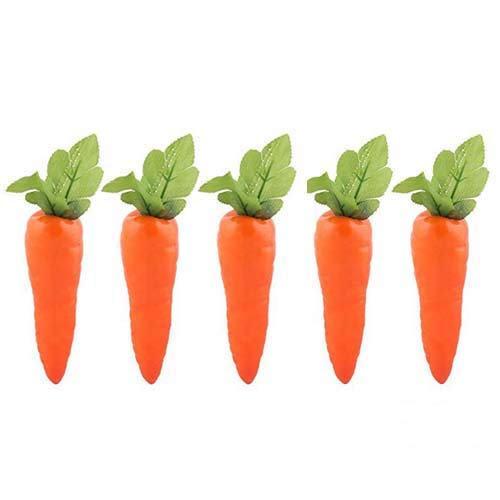 Lorigun 5 Pcs Simulation Carrots Artificial Vegetables Home&Kitchen Decorations ()