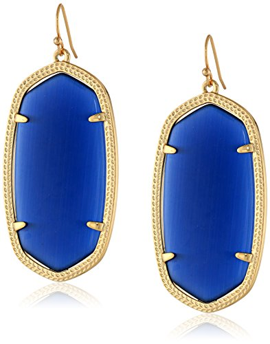 Kendra Scott''Signature'' Danielle Gold plated Navy Glass Drop Earrings by Kendra Scott