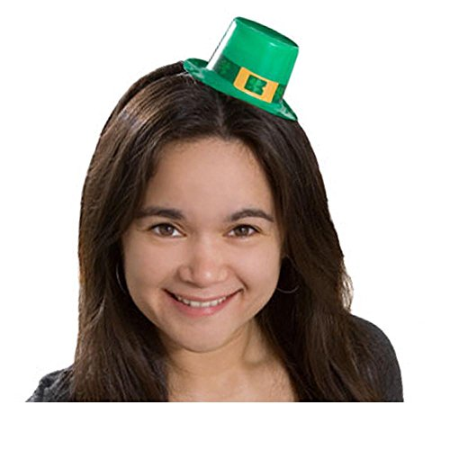 5 St Patricks Day Mini Hats with Elastic Bands]()