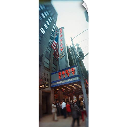 (CANVAS ON DEMAND Wall Peel Wall Art Print Entitled People at a Stage Theater Radio City Music Hall Rockefeller Center Manhattan New York City New York State 24