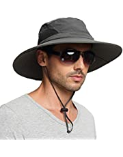 EINSKEY Sun Hat for Men/Women, Wide Brim UV Protection Bucket Hat Foldable Waterproof Outdoor Boonie Cap for Safari, Fishing, Hunting, Hiking, Camping