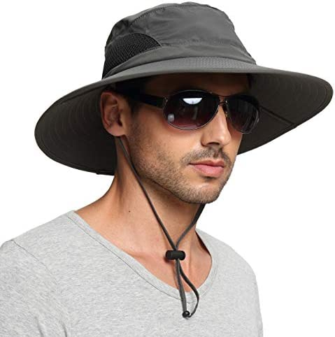 EINSKEY Sun Hat for Men/Women, Sun Protection Wide Brim Bucket Hat Waterproof Breathable Packable Boonie Hat for Fishing – The Super Cheap