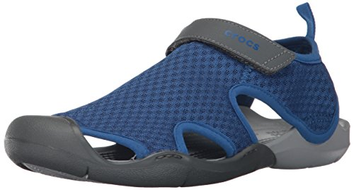 Blue Mesh Sandal Crocs Swiftwater Jean Women's wxTqOI8nvO