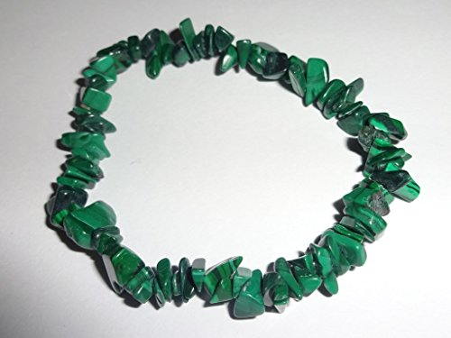 Buy green malachite crystal necklace