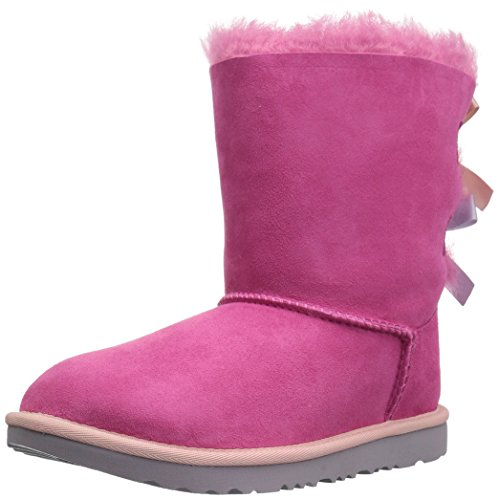 UGG Kids K Bailey Bow II Pull-on Boot, Pink Azalea/Icelandic Blue, 1 M US Little Kid