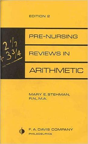 Pre nursing reviews in arithmetic 9780803681408 medicine health pre nursing reviews in arithmetic 1st edition fandeluxe Gallery