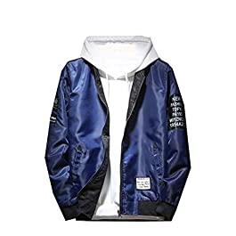 Men's Casual Zip Up Pocket Baseball Jacket Coat
