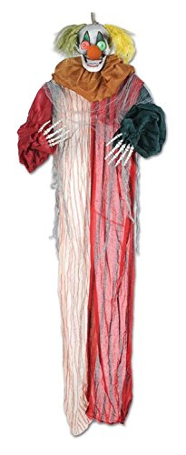 6.5' Posable Creepy Clown Skeleton Creature Halloween Dec...