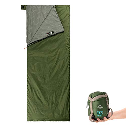 Naturehike Ultralight Sleeping Bag – Envelope Lightweight Portable, Waterproof, Comfort with Compression Sack – Great for 3 Season Traveling, Camping, Hiking