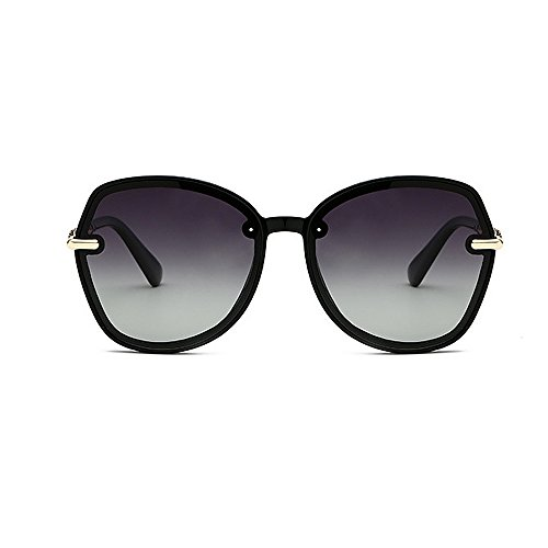 hombres gafas sol de personalidad sol para sol retro unisex de Gafas los ULTRAVIOLETA la y las las conducción de Gafas Protección polarizadas de Retro del marco Negro de de de mujeres sol de la de las gafas EwZqqvP0