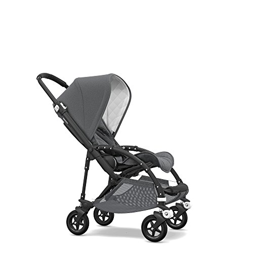 Bugaboo Bee5 Classic Complete Special-Edition Stroller, Black/Grey Mélange - Compact, Foldable Stroller for Travel and Urban Life (Best Place To Ride Trolley In San Francisco)