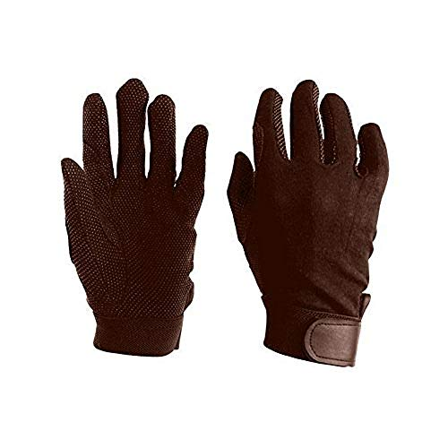 - Dublin Adults Track Riding Gloves (Small) (Brown)