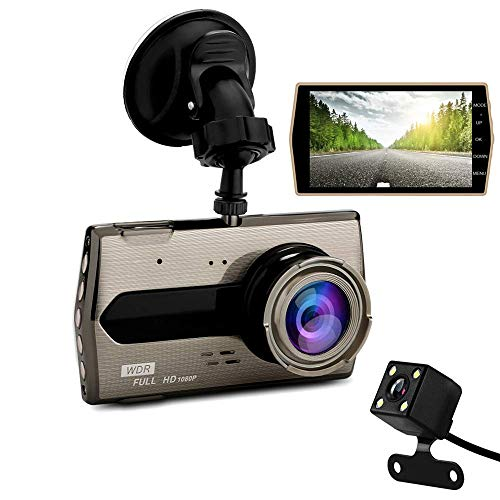 Dash Cam - KAILEDI 1080P Full HD Car DVR Dashboard Camera, Driving Recorder with 4 Inch LCD Screen, 170 Degree Wide Angle, WDR, G-Sensor, Motion Detection, Loop Recording