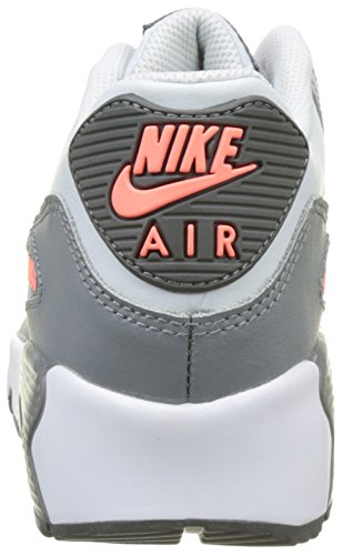 Nike Youth Air Max 90 Leather Trainers Pure Platinum/Cool Grey free shipping manchester great sale anWXJdTN