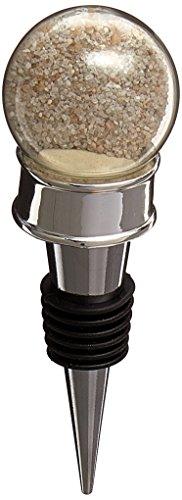 """Kate Aspen """"Seaside"""" Sand and Shell-Filled Globe Bottle Stopper"""
